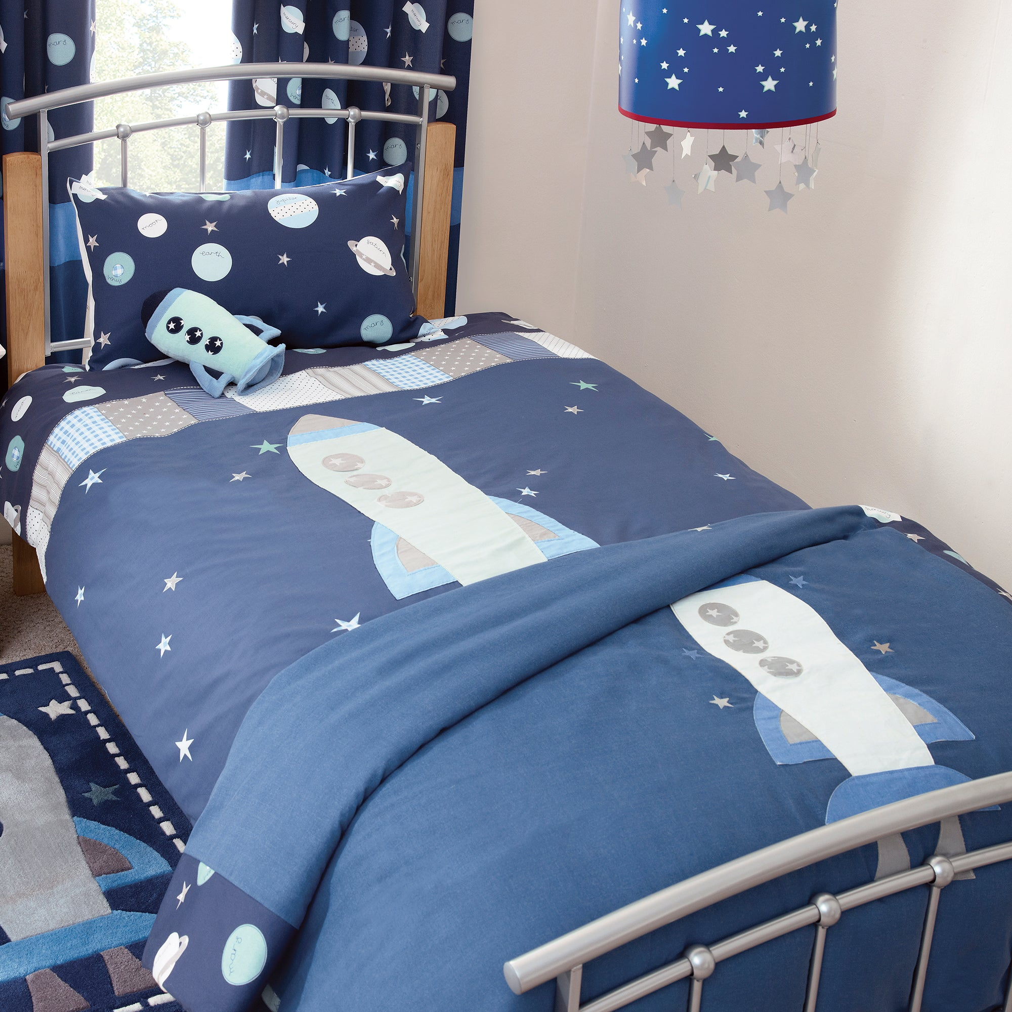 Kids Space Mission Collection Bedspread