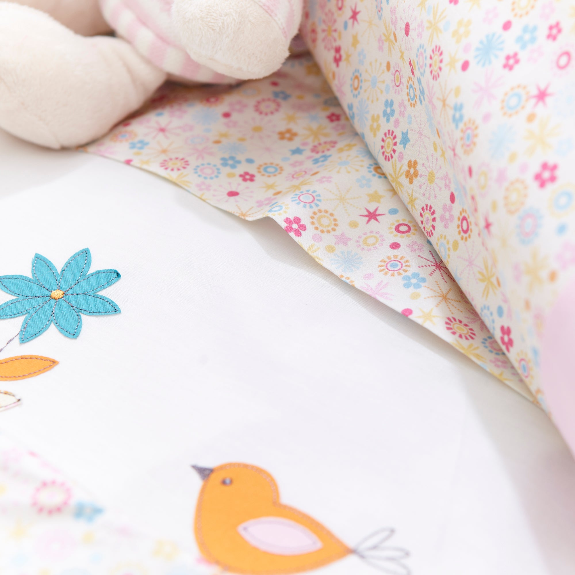 Kids Tweet Tweet Collection Flat Cot Sheet