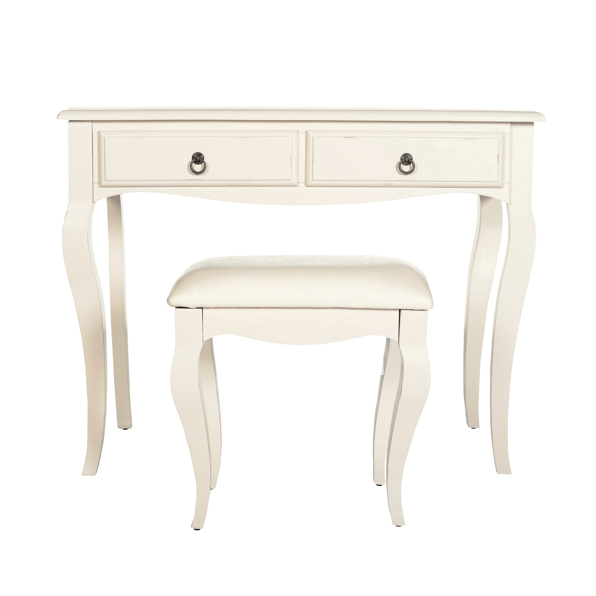 Florence Ivory Dressing Table and Stool