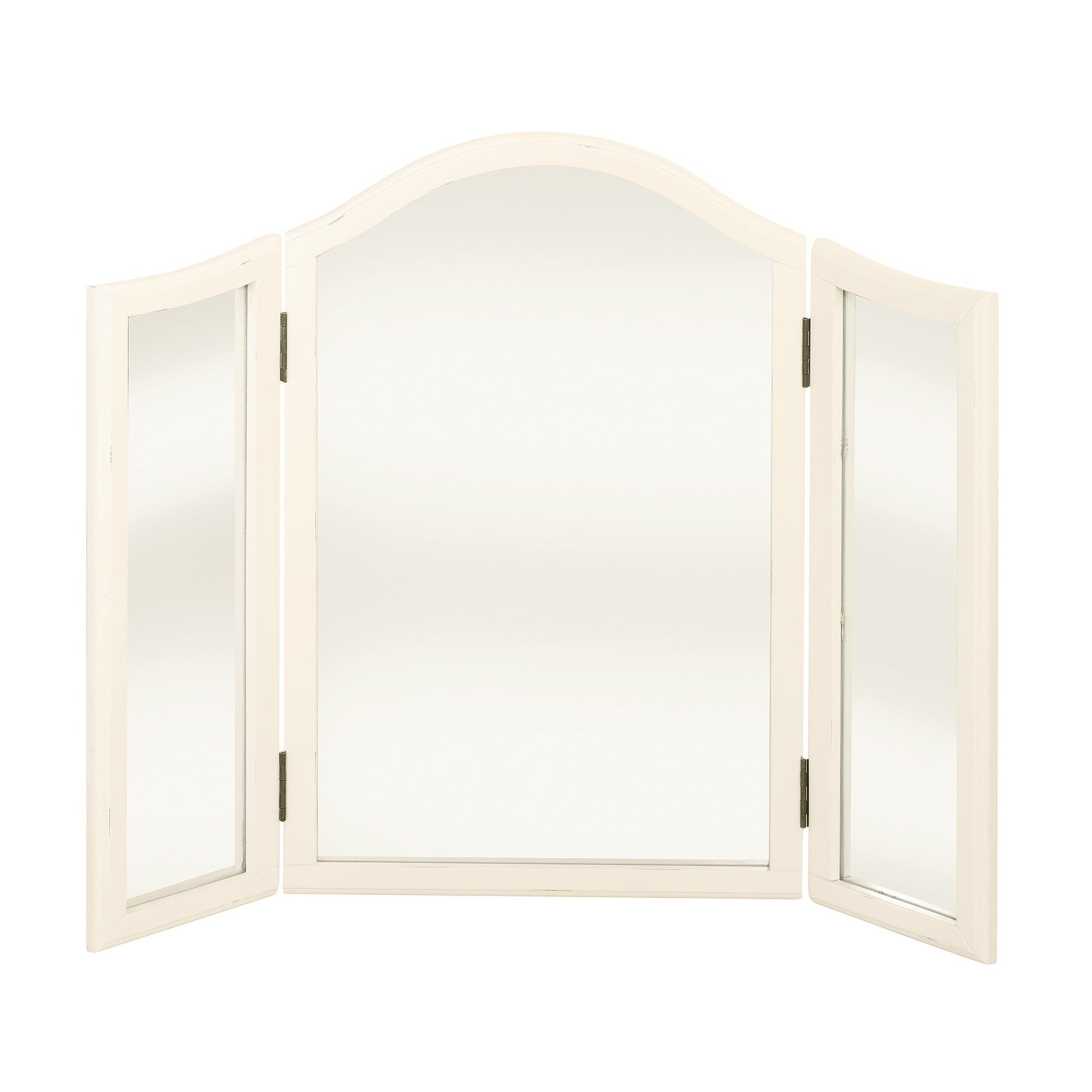 Florence Ivory Triple Mirror