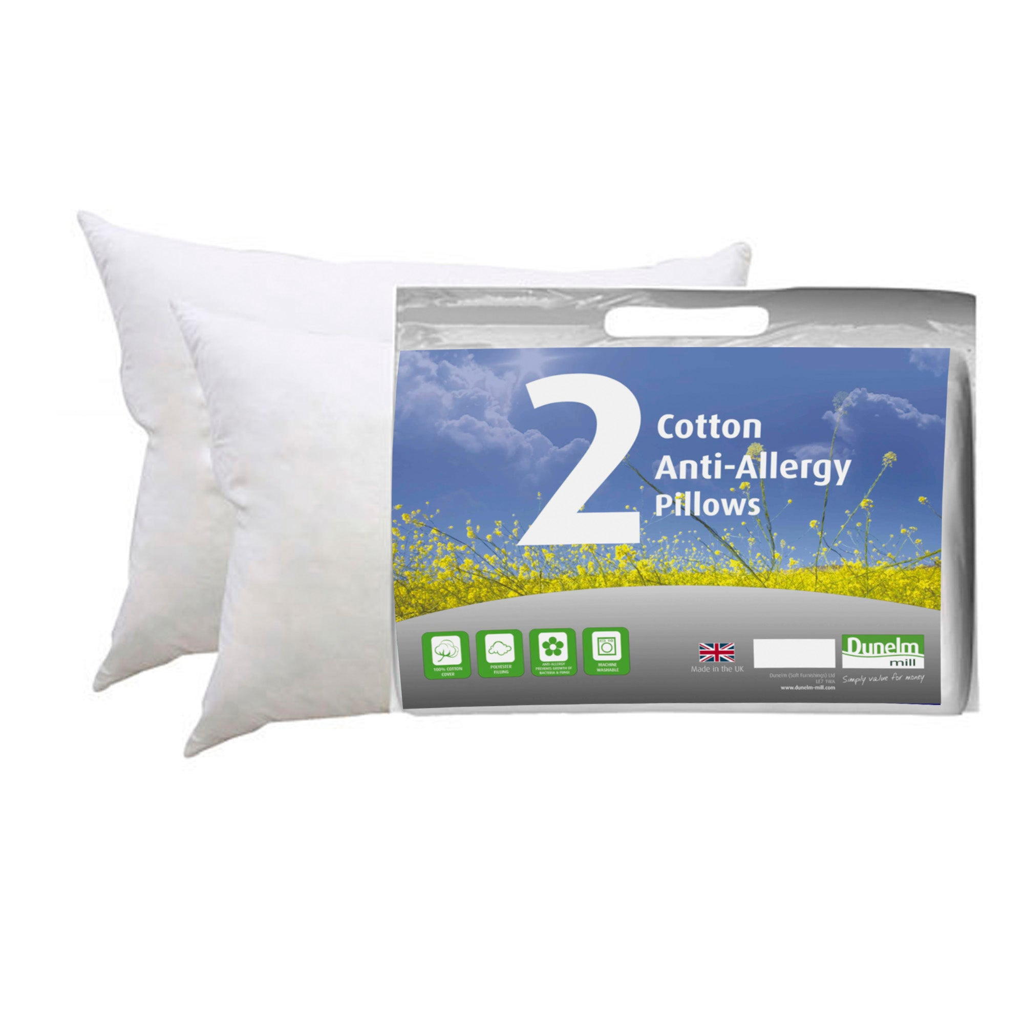 Anti Allergy Pair of Pillows