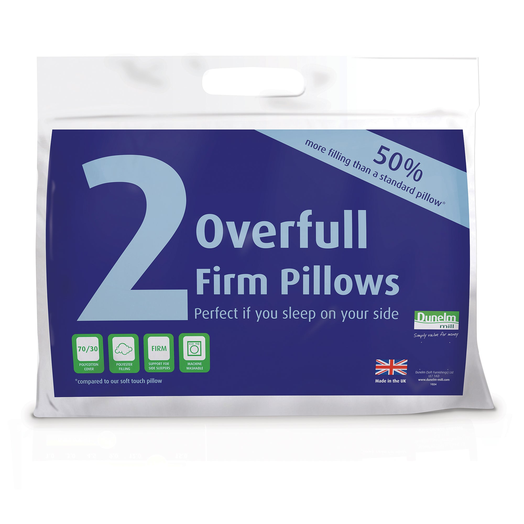 Overfull Firm Pair of Pillows