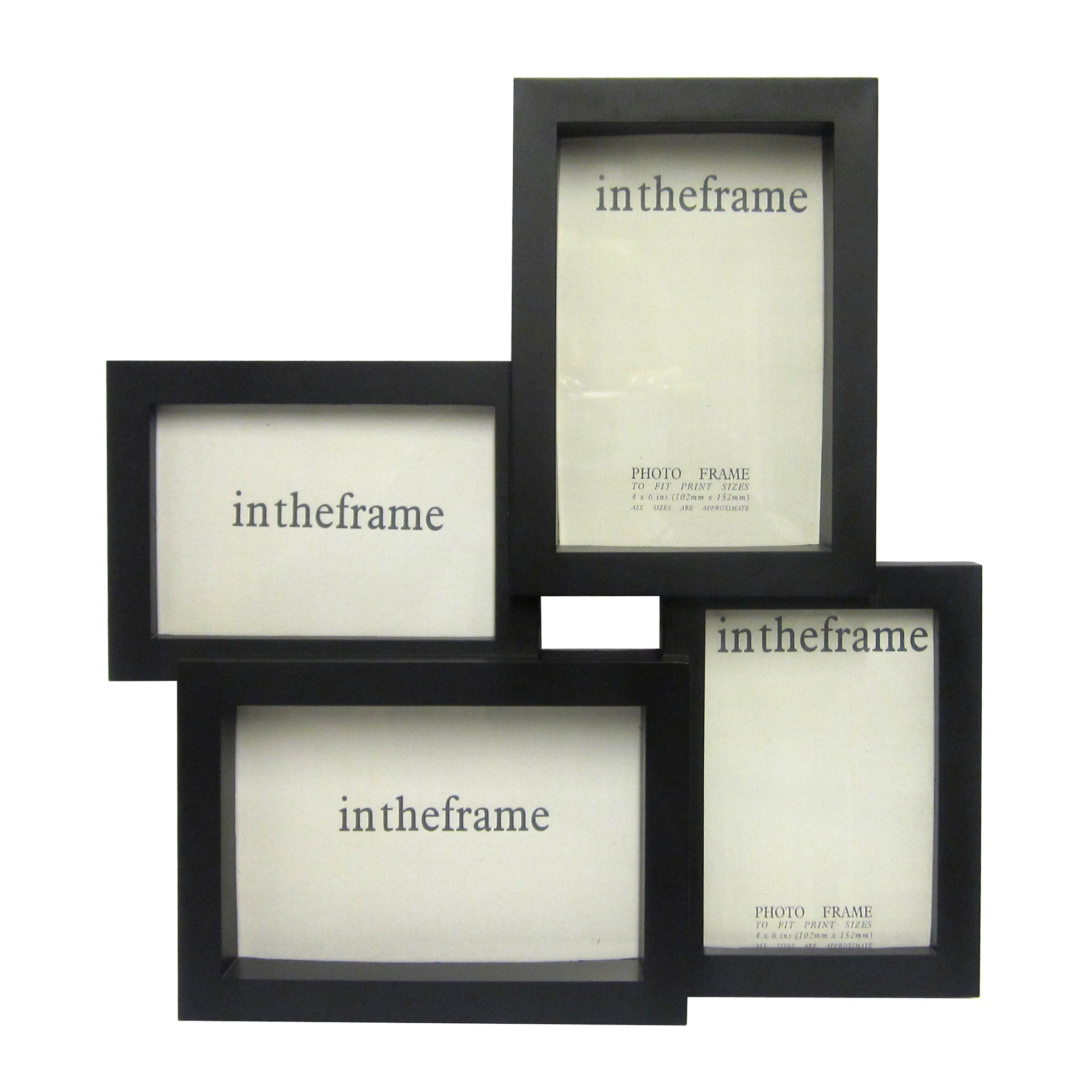 Black Jigsaw 4 Opening Photo Frame