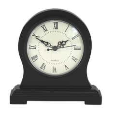 Black Ice Collection Wooden Mantel Clock