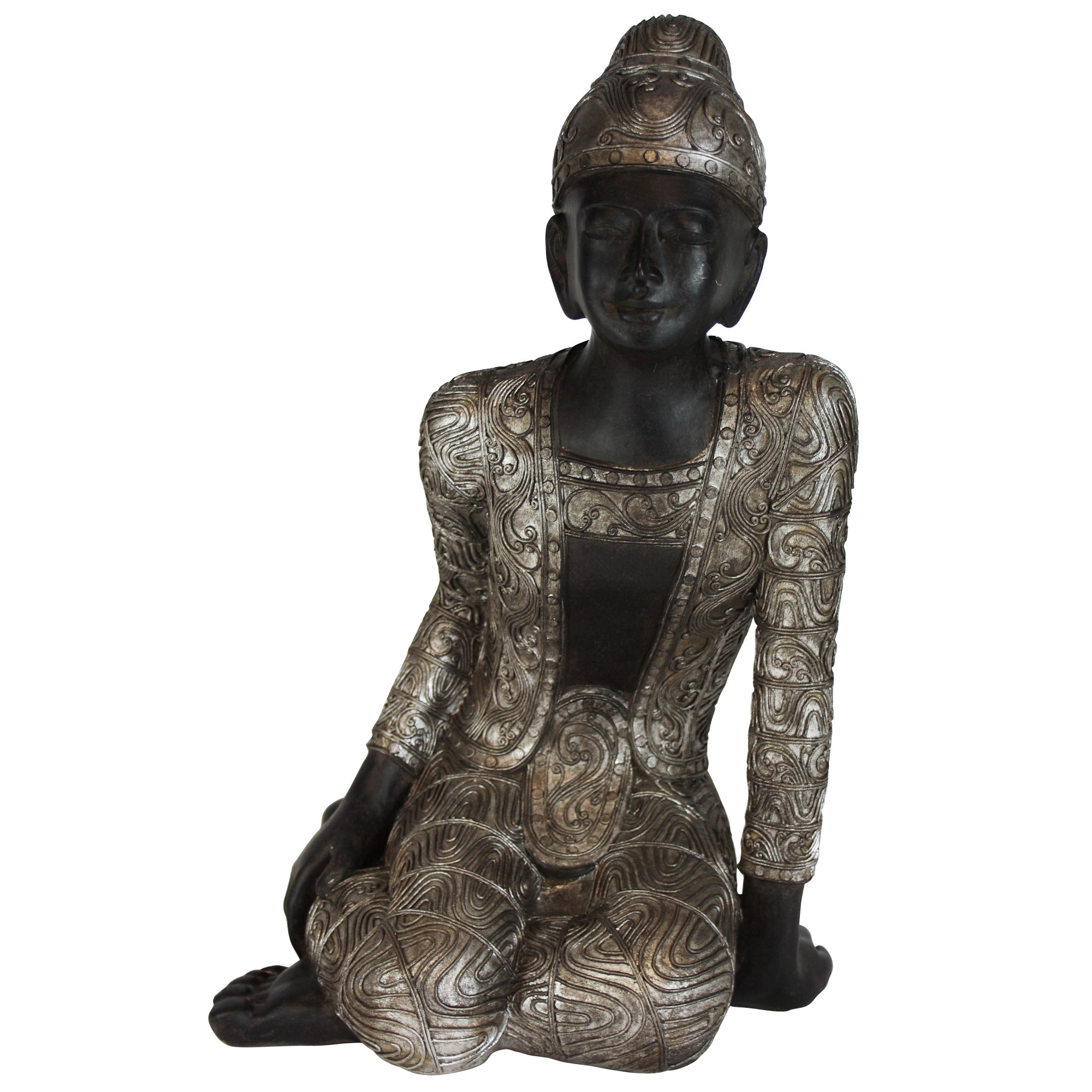 Burnt Sienna Collection Sitting Buddha Ornament