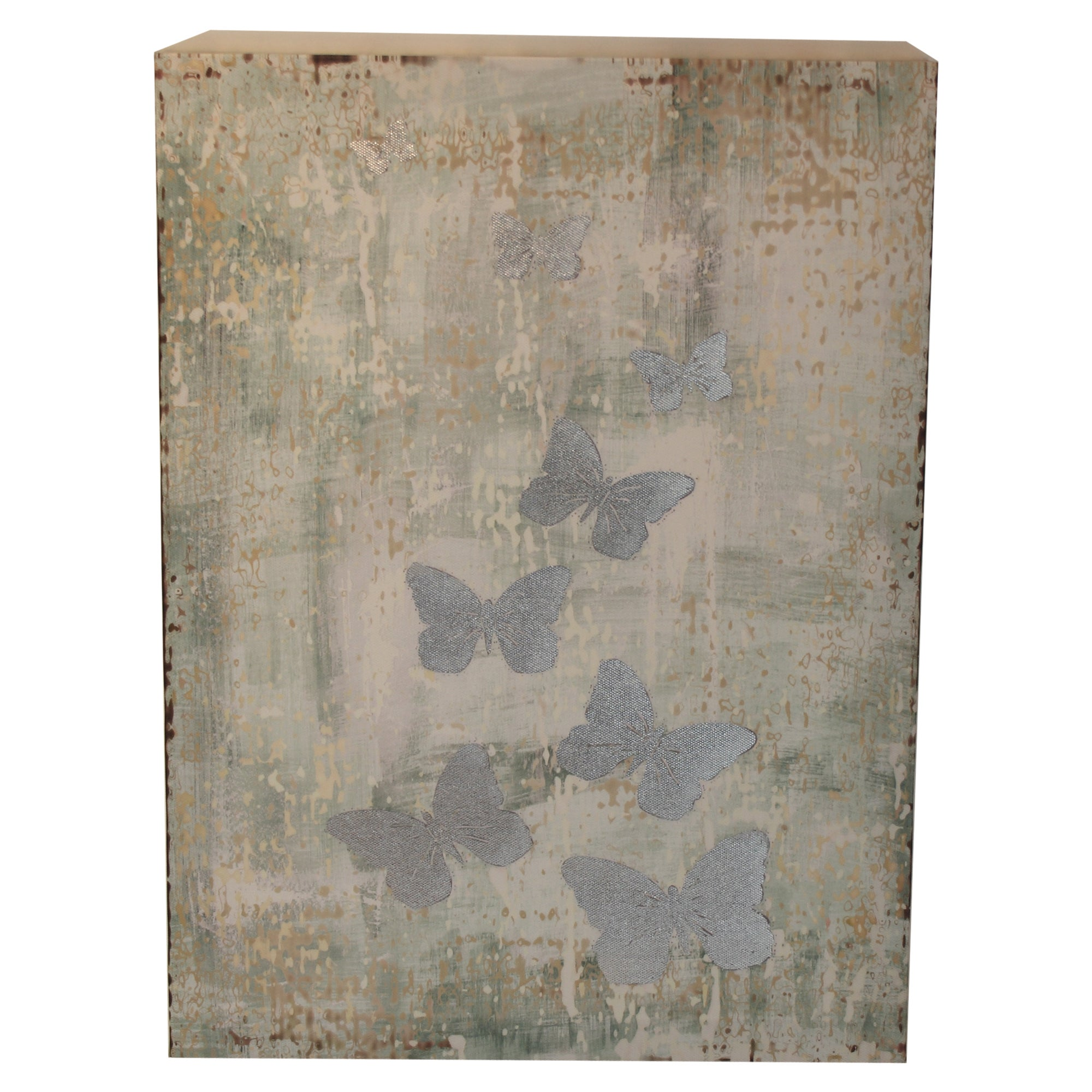 Duck Egg Days Collection Butterfly Canvas