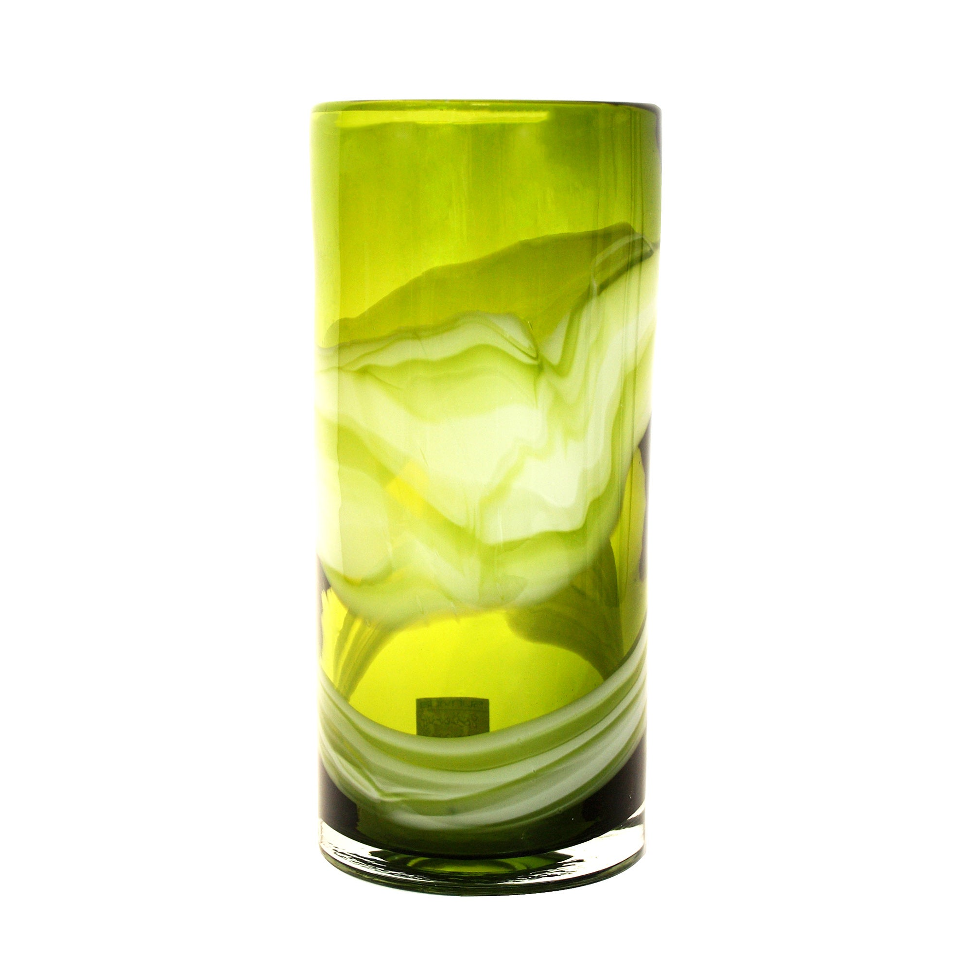 Key Lime Collection Glass Swirl Vase
