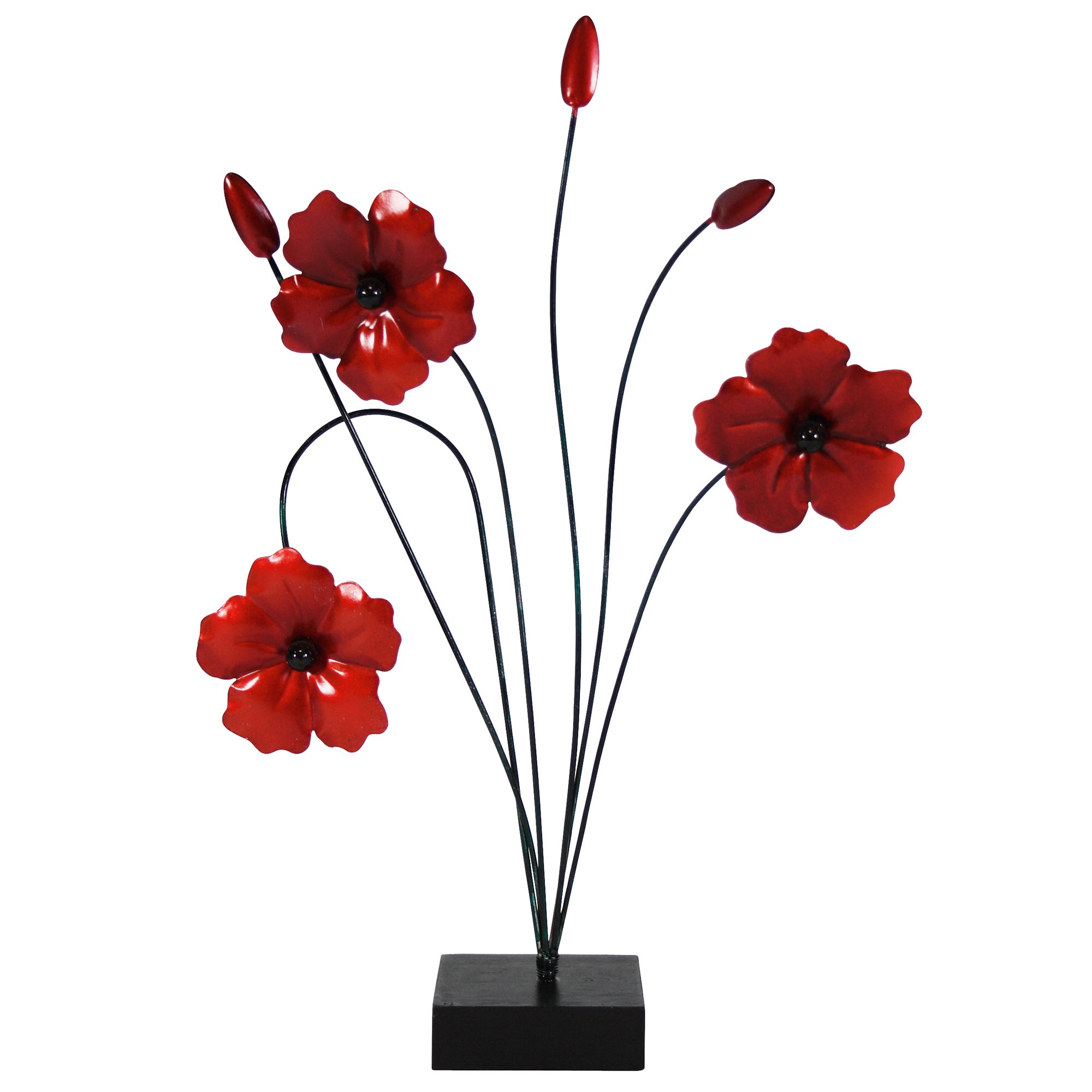 Ruby Collection Poppy Sculpture