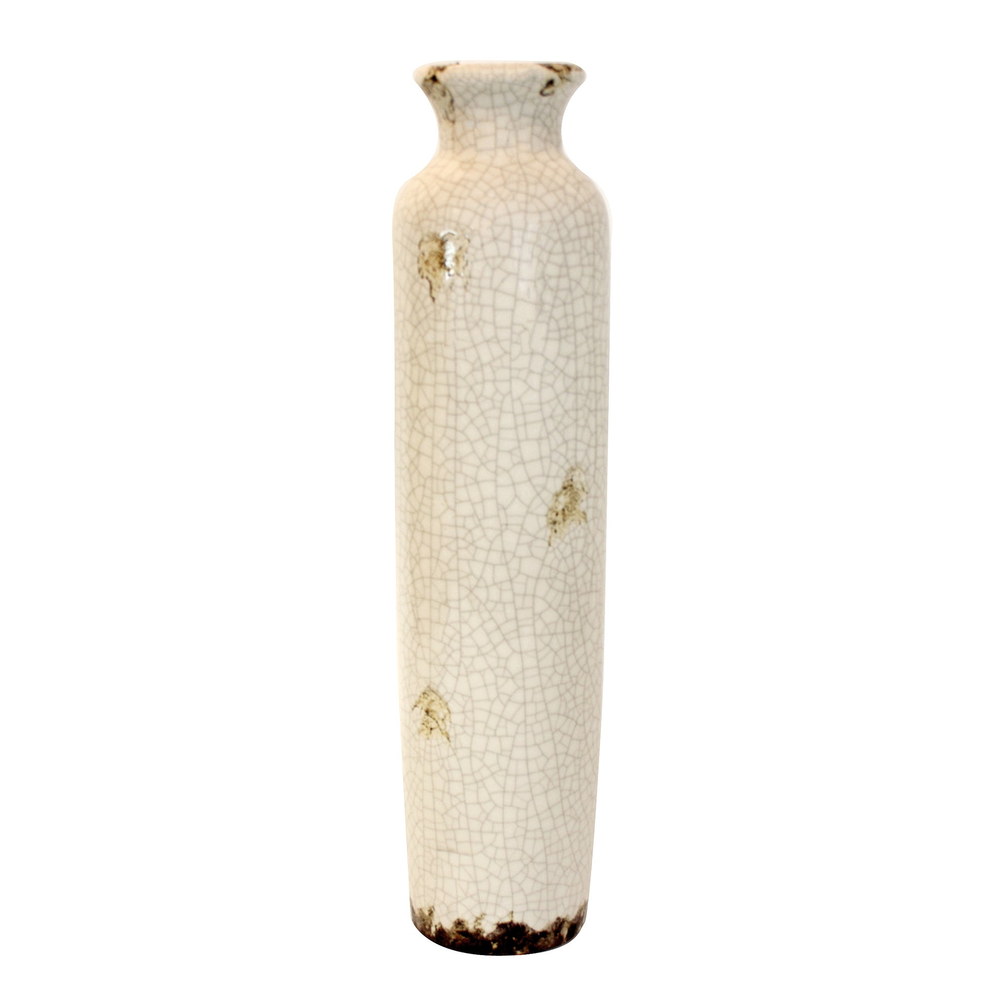 Vintage Collection Crackle Ceramic Bottle Vase