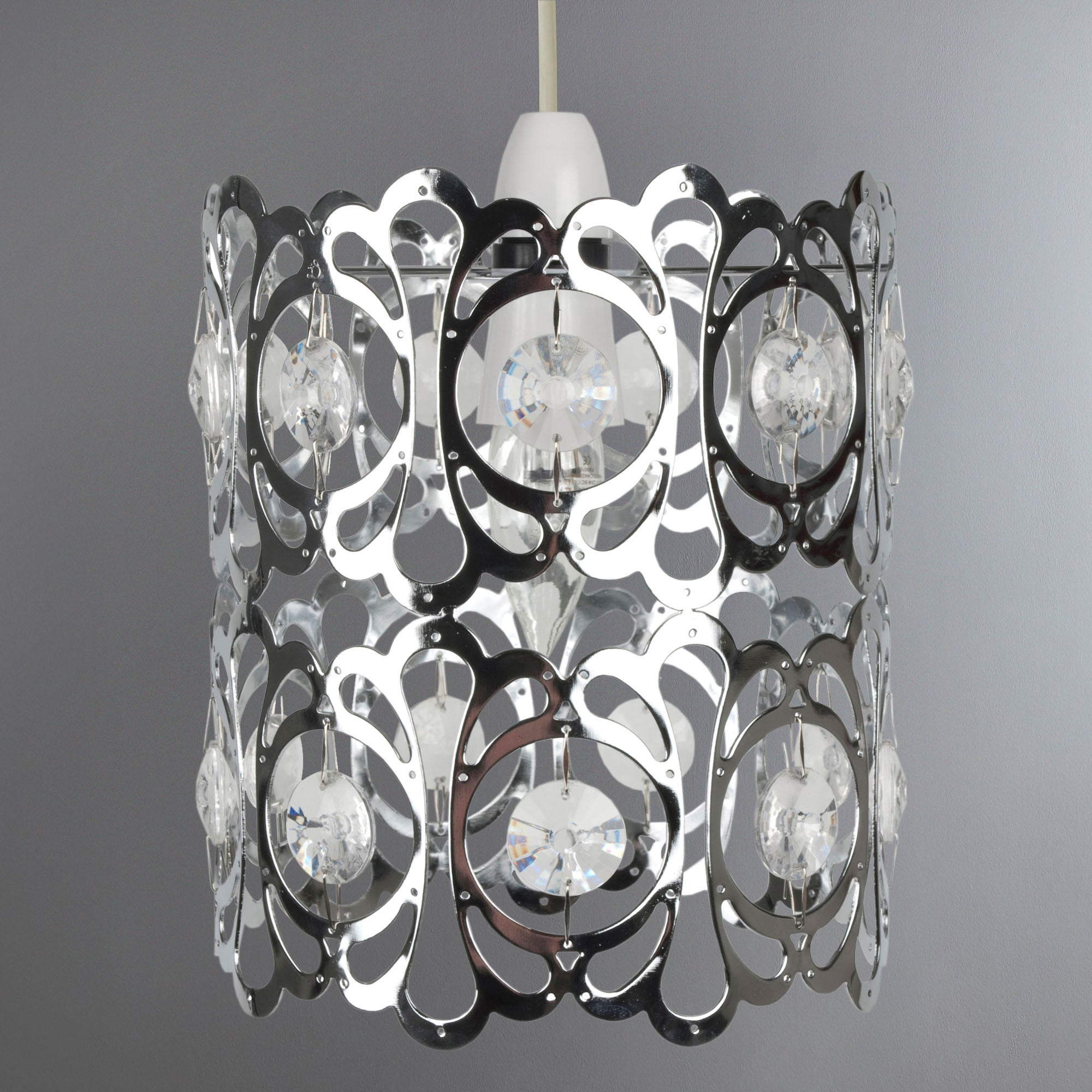 Jewel Cylinder Pendant Light Fitting