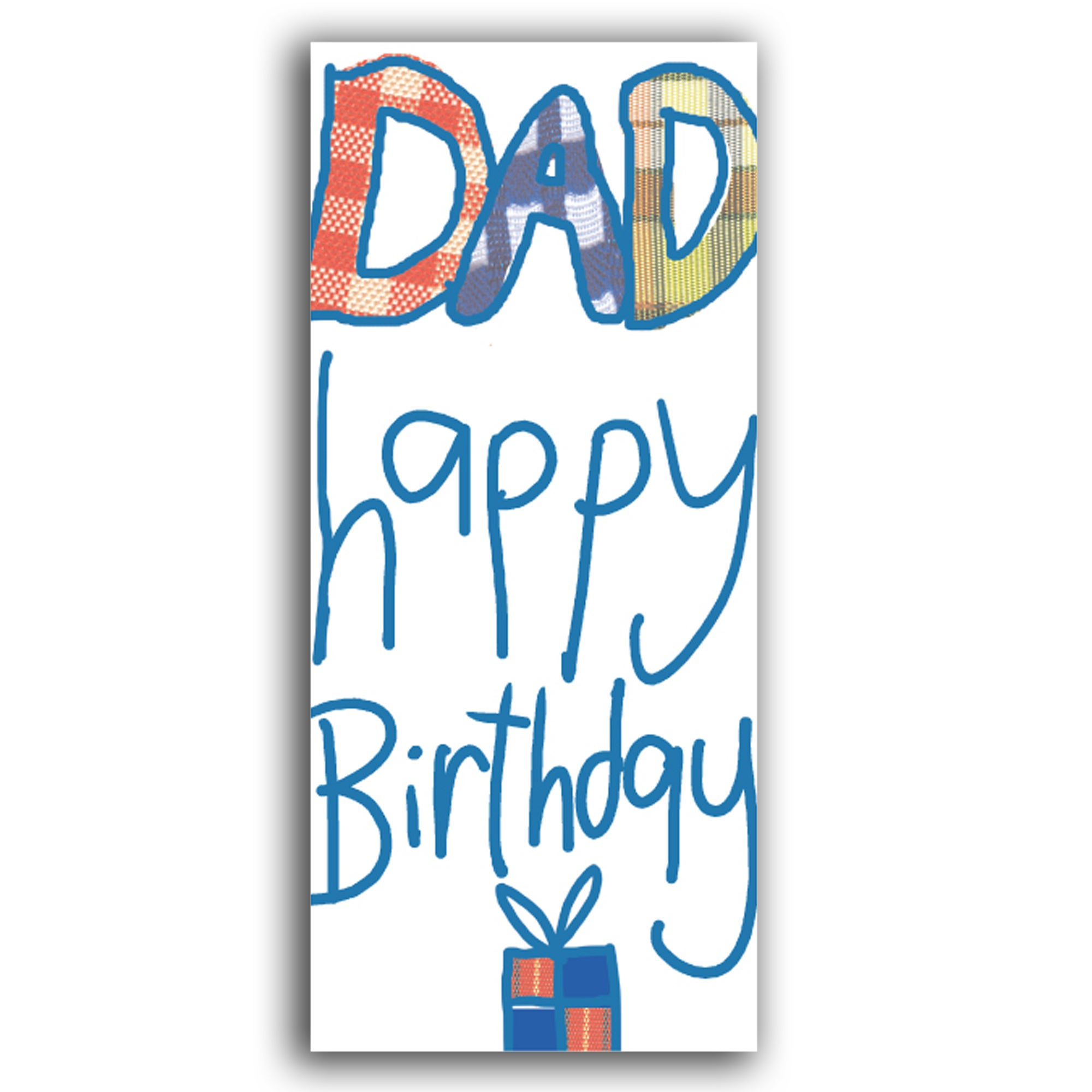 Paper Rose Candy Rocks Happy Birthday Dad Card