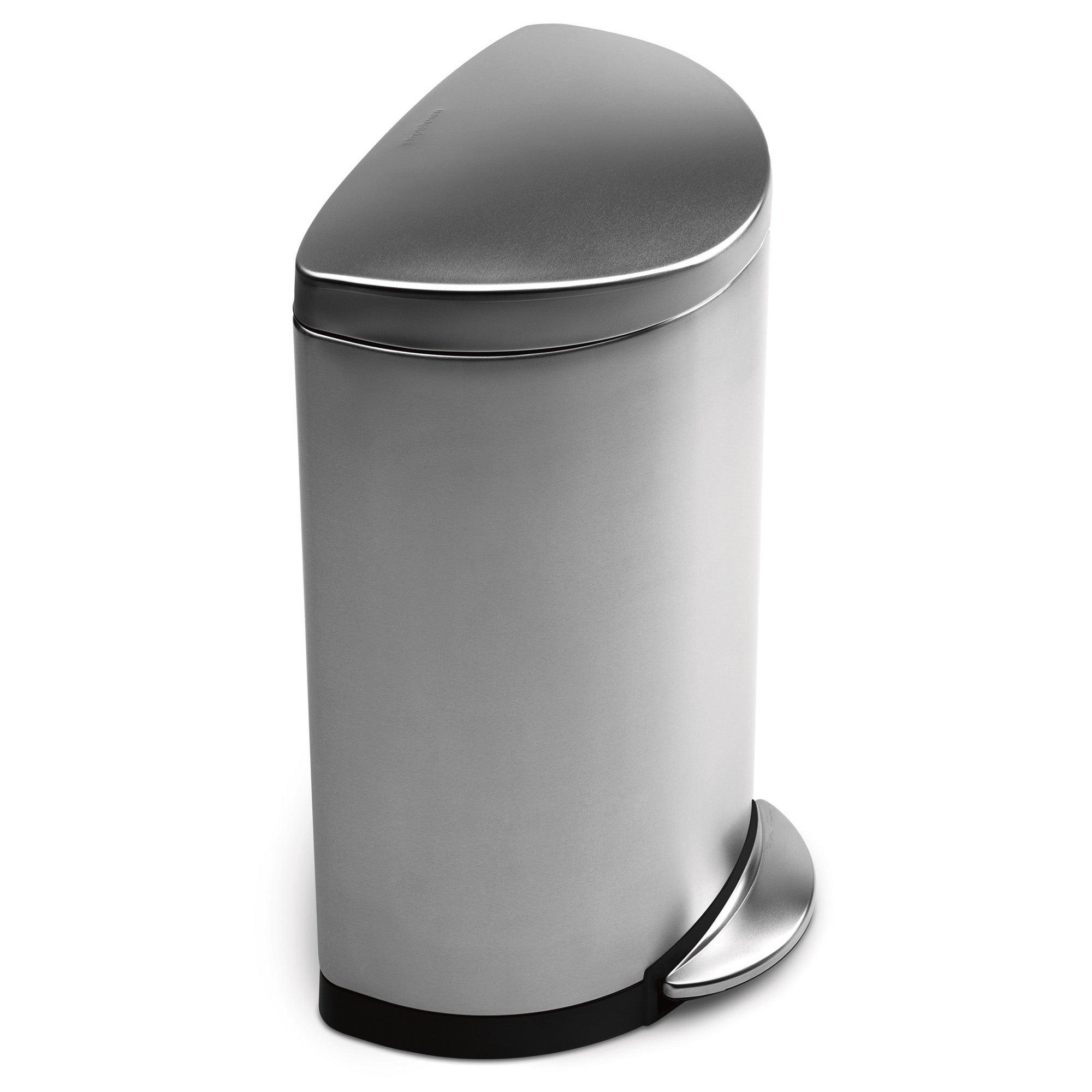 simplehuman 40 Litre Semi Round Stainless Steel Pedal Bin