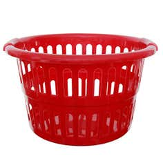 Whitefurze Red Round Laundry Basket