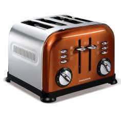 Morphy Richards 44744 Copper Accents 4 Slice Toaster