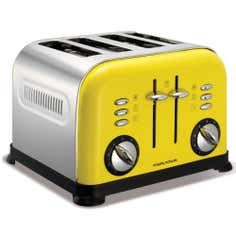Morphy Richards 44797 Yellow Accents 4 Slice Toaster