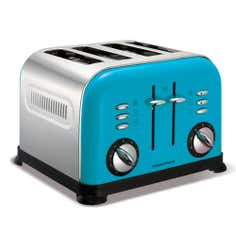 Morphy Richards 44799 Cyan Accents 4 Slice Toaster