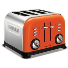 Morphy Richards 44798 Orange Accents 4 Slice Toaster