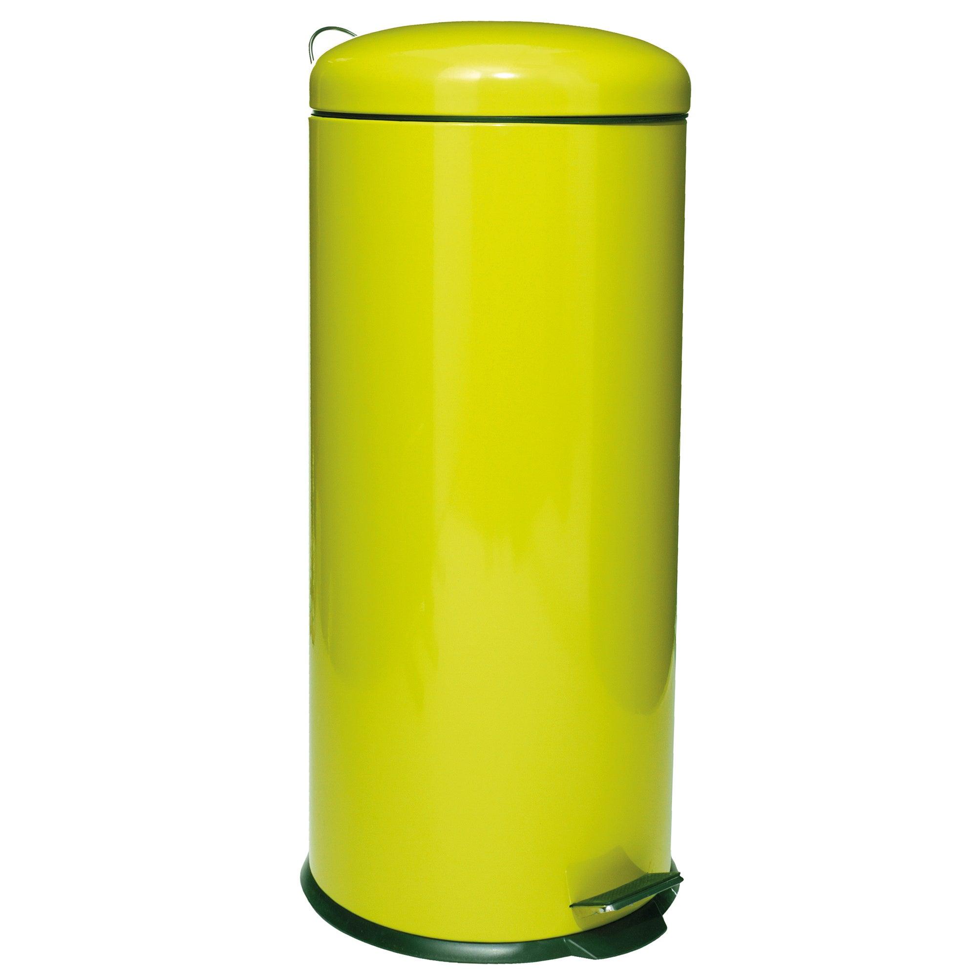 Metallic Lime 30 Litre Pedal Bin
