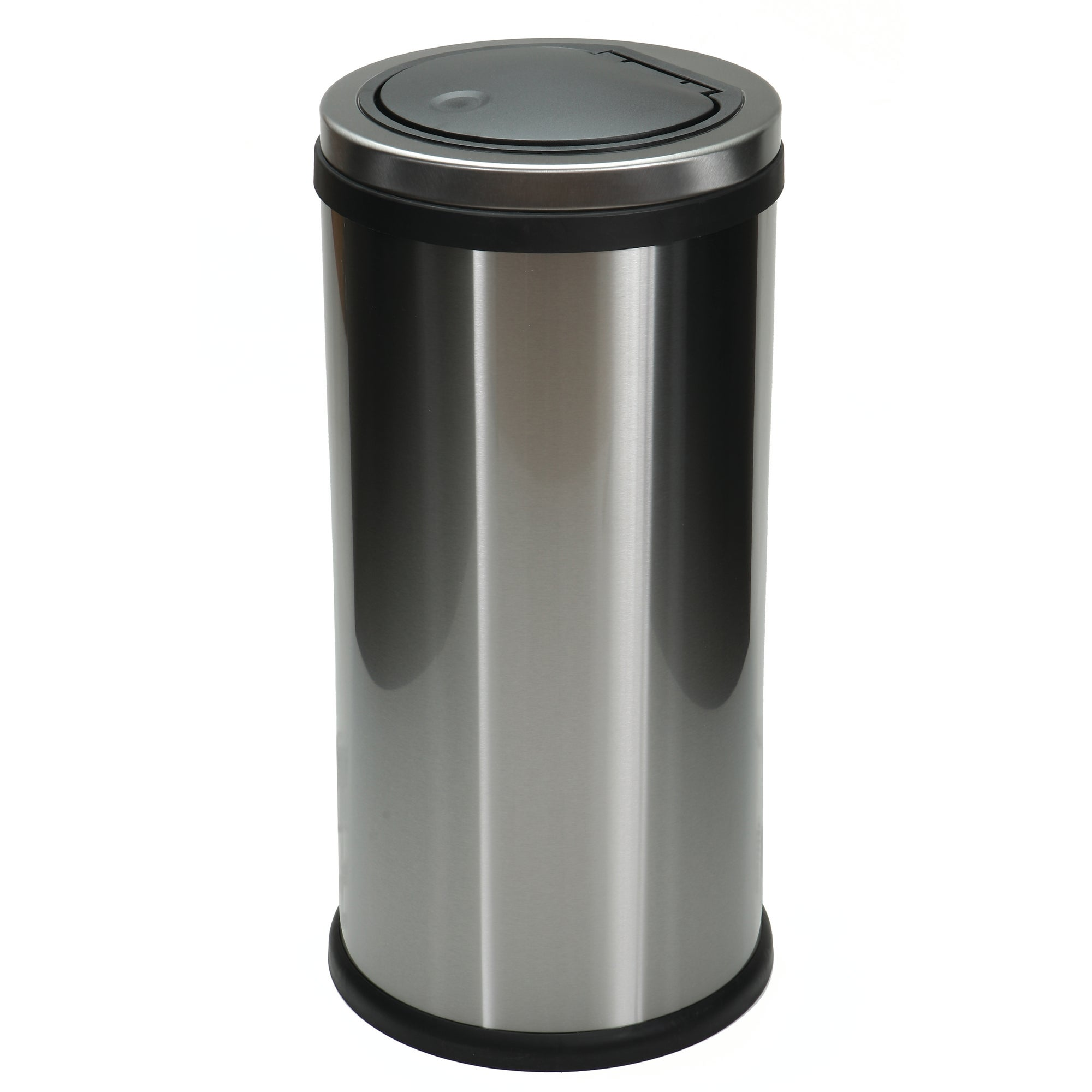 Infinity Brushed Steel 30 Litre Press Top Bin