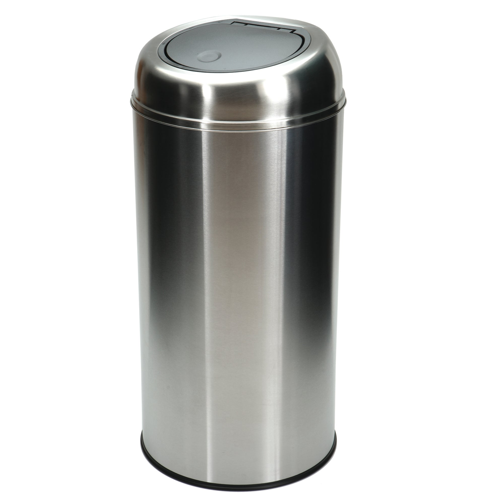 Brushed Steel 50 Litre Press Top Bin