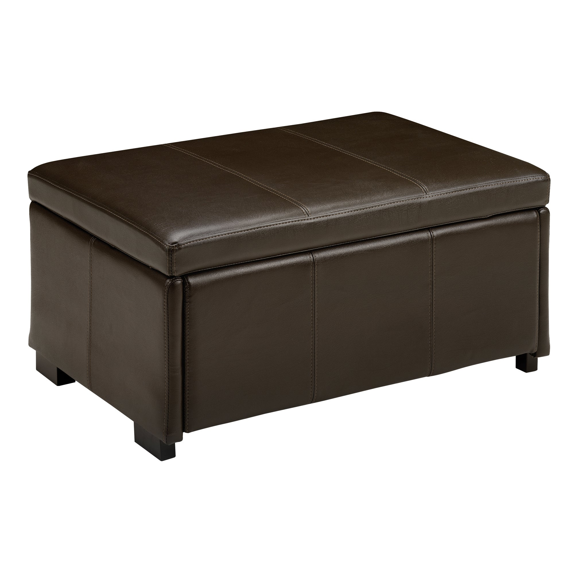 Rome Collection Faux Leather Ottoman