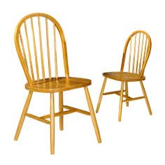 Venice Oak Effect Pair of Dining Chairs