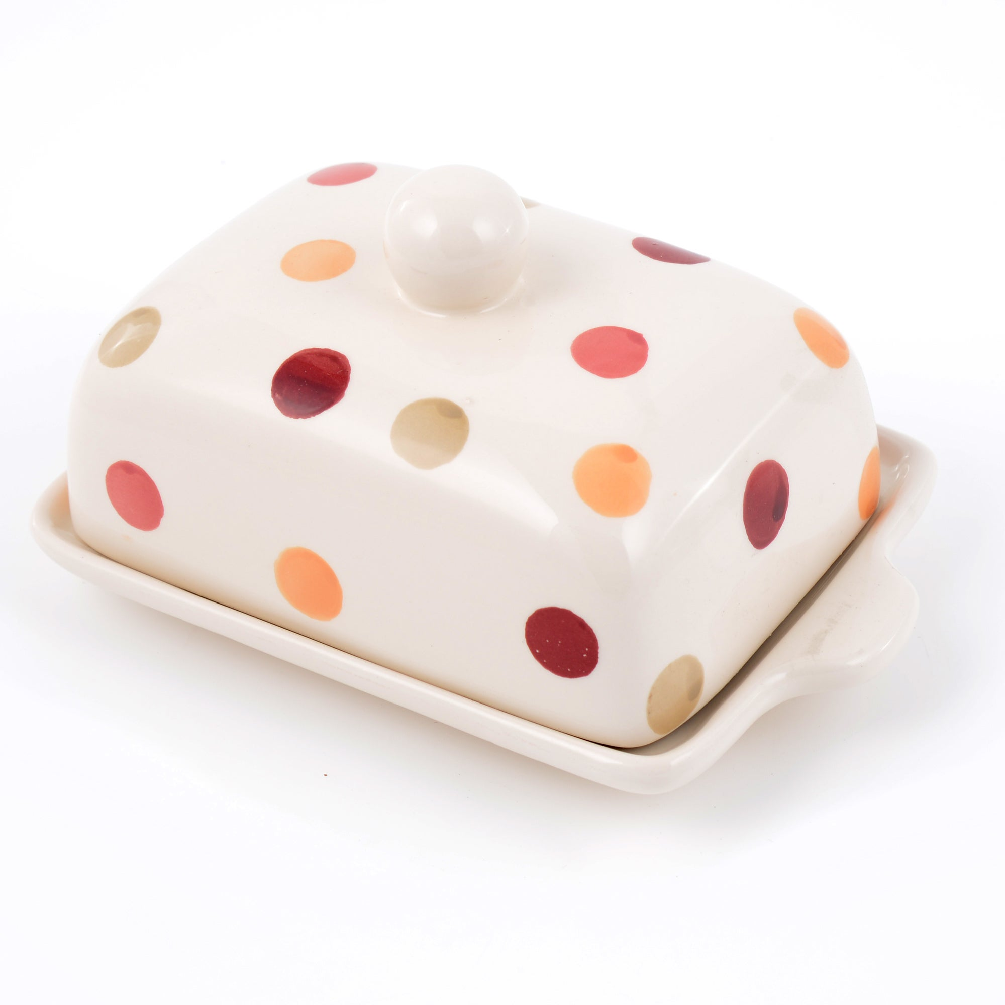 Red Country Spots Collection Butter Dish