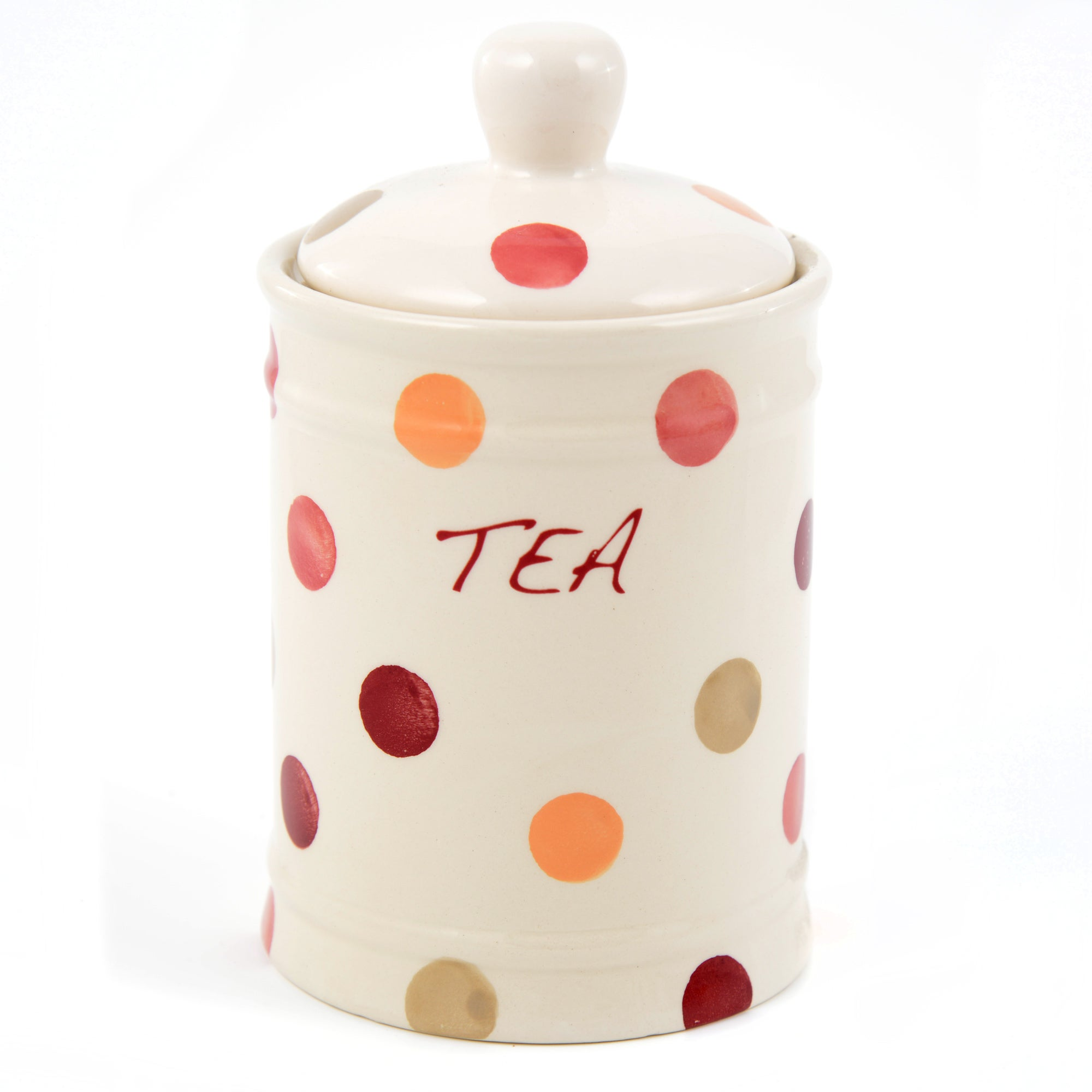 Red Country Spots Collection Tea Storage Jar