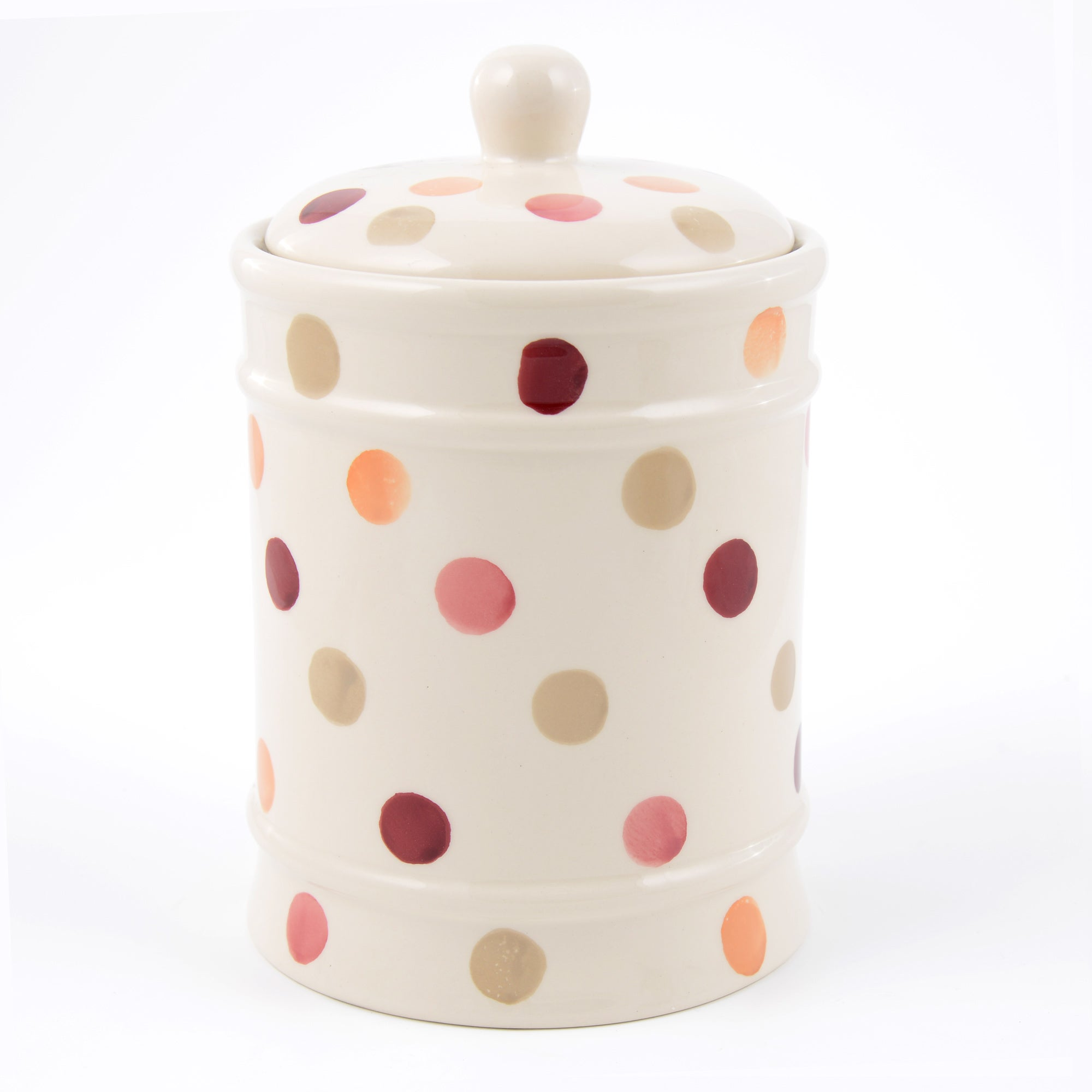 Red Country Spots Collection Biscuit Storage Jar