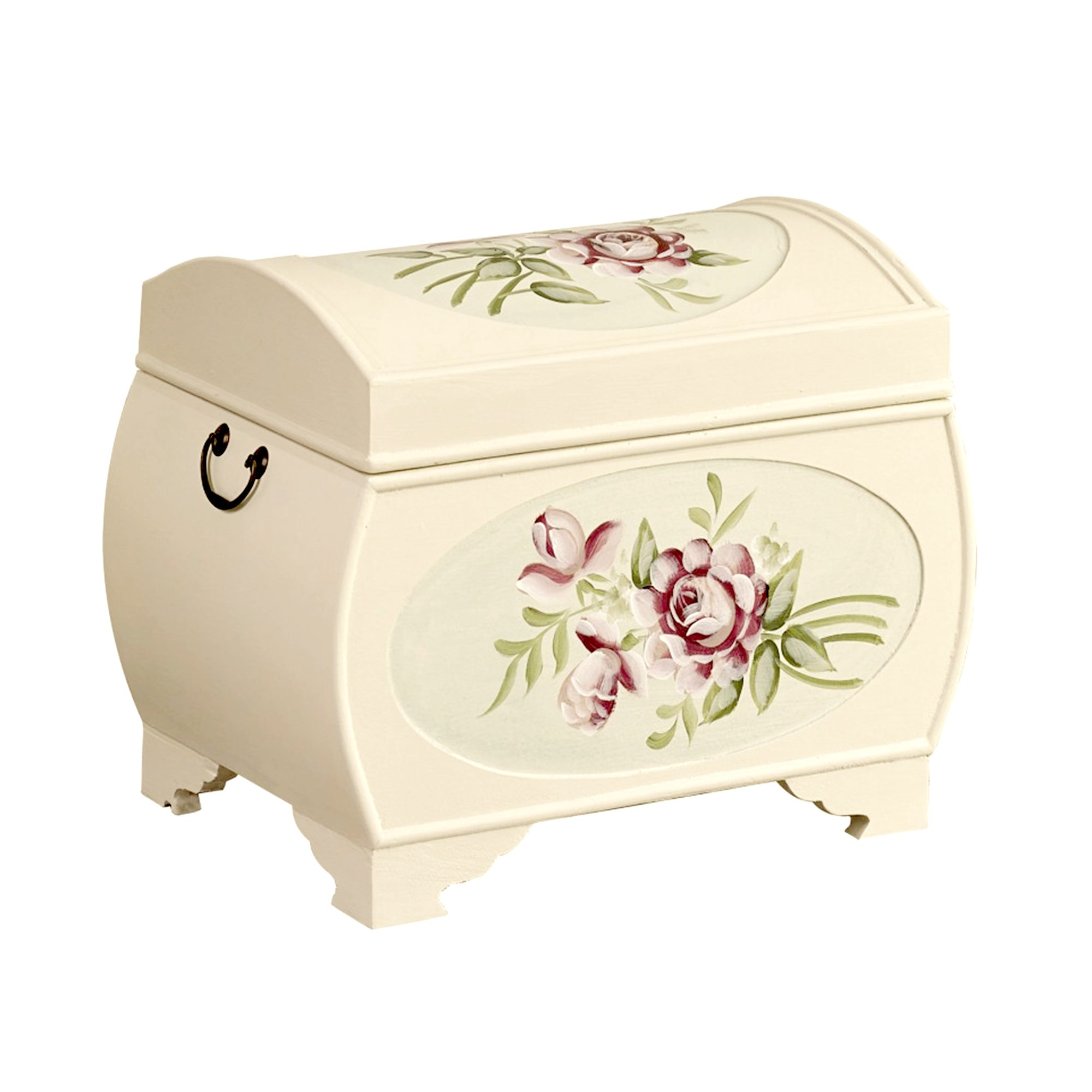 English Rose Hand Painted Storage Chest