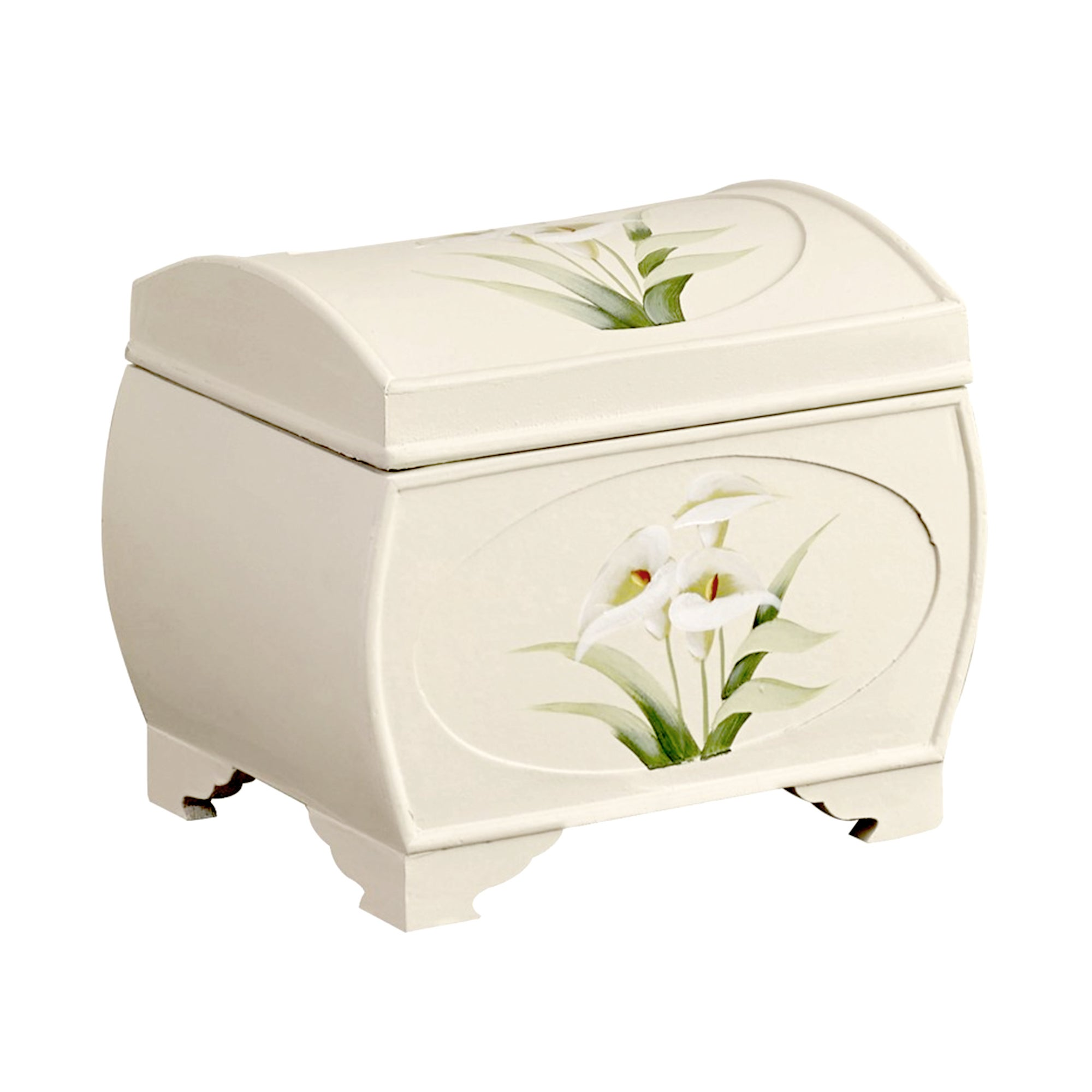 Calla Lily Hand Painted Storage Chest