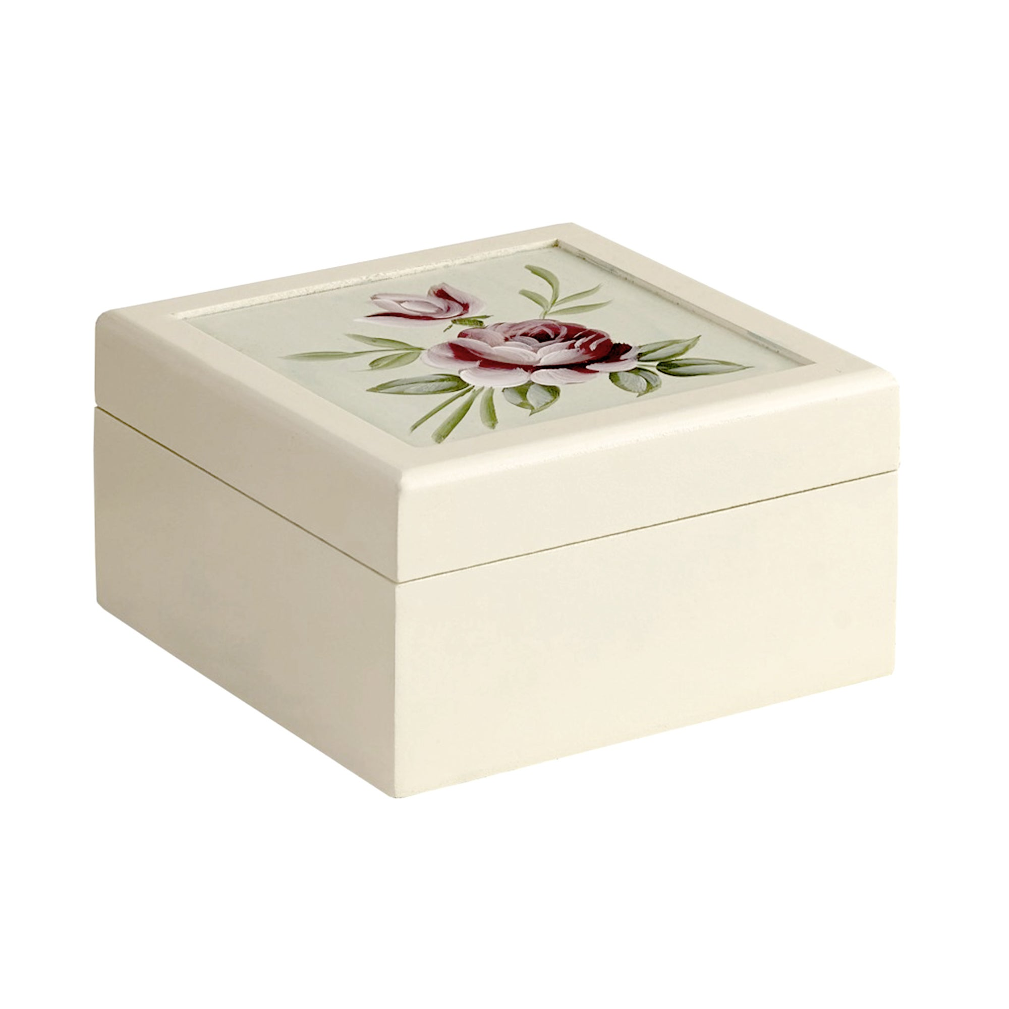 English Rose Hand Painted Jewellery Box