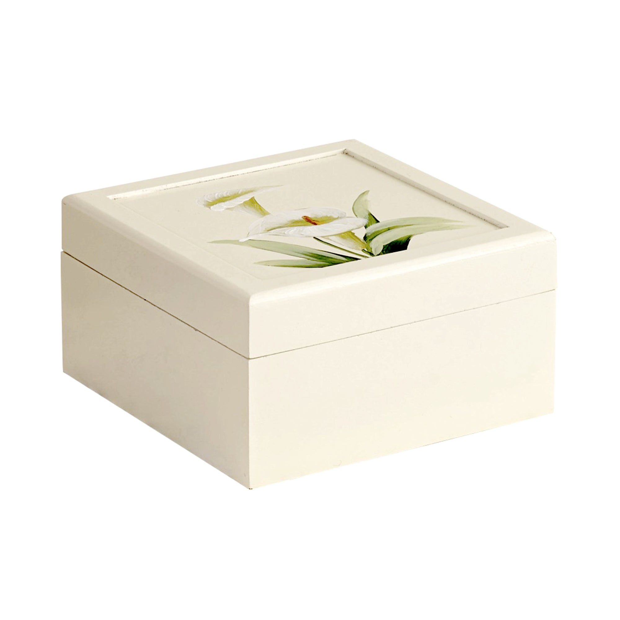 Calla Lily Hand Painted Jewellery Box