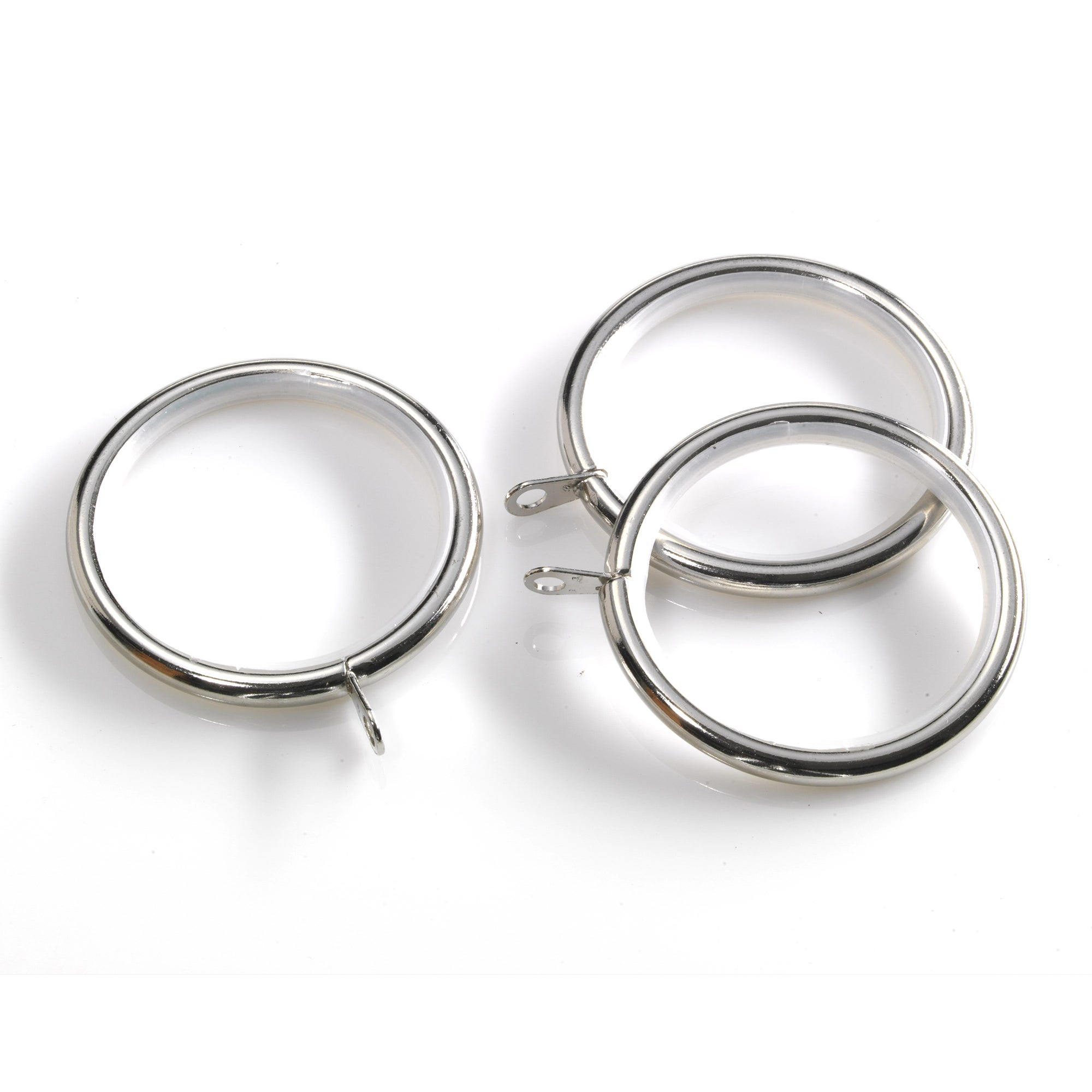 Swish Portland Collection Satin Steel Curtain Rings