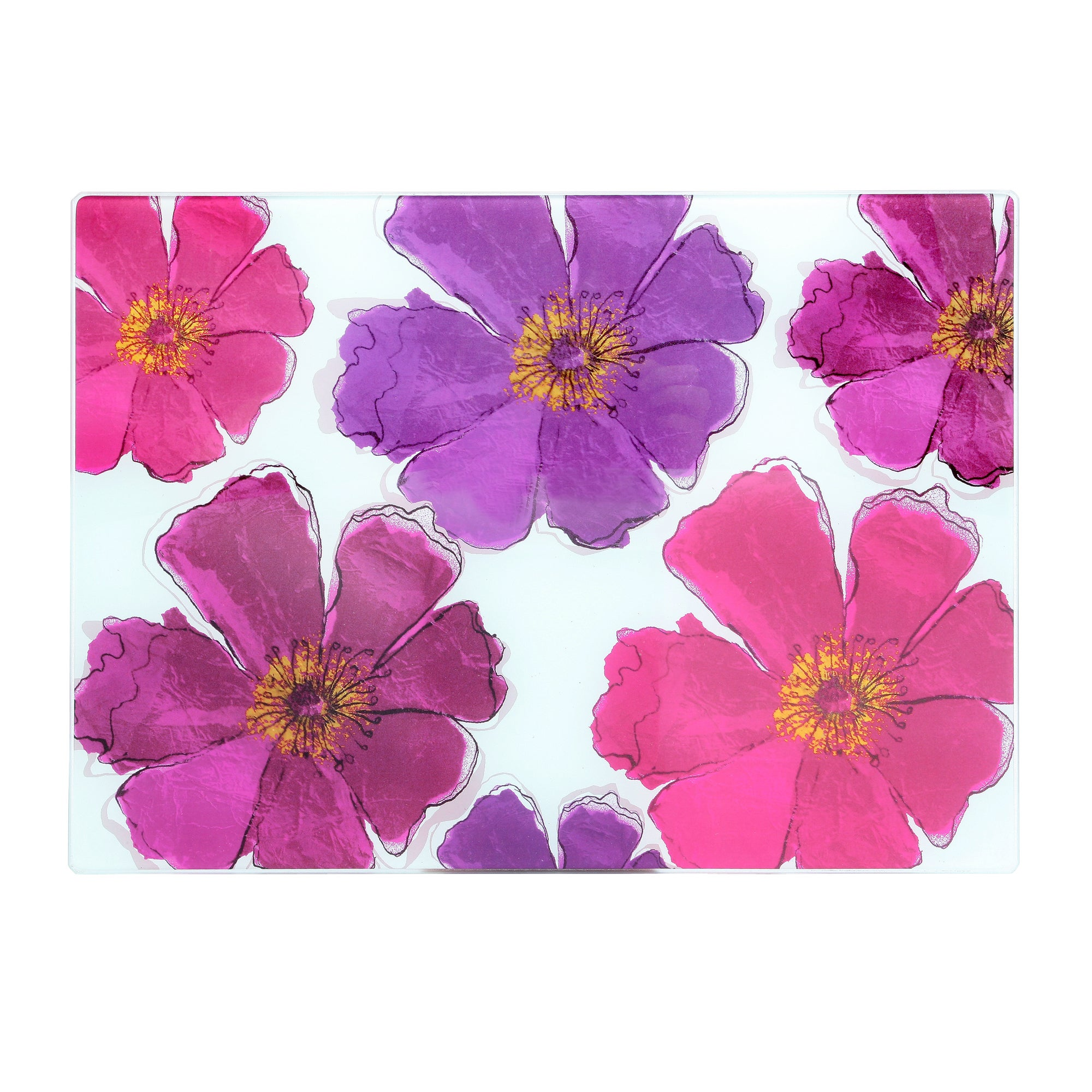 Mulberry Flower Collection Glass Worktop Saver