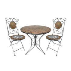 Mosaic Kaleidoscope Tea For 2 Garden Bistro Set