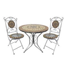 Mosaic Cream Star Tea For 2 Garden Bistro Set