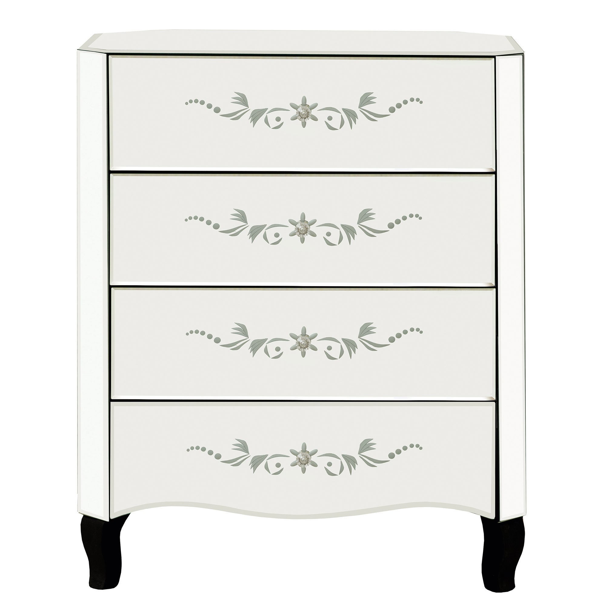 Parisian Mirrored 4 Drawer Chest