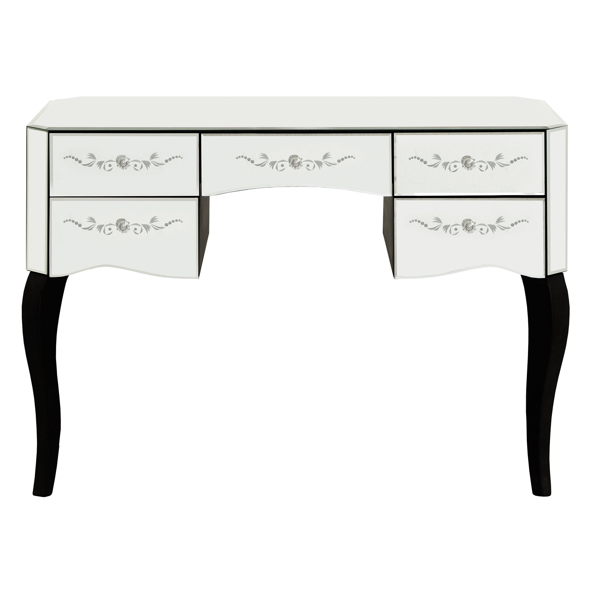 Parisian Mirrored 5 Drawer Dressing Table