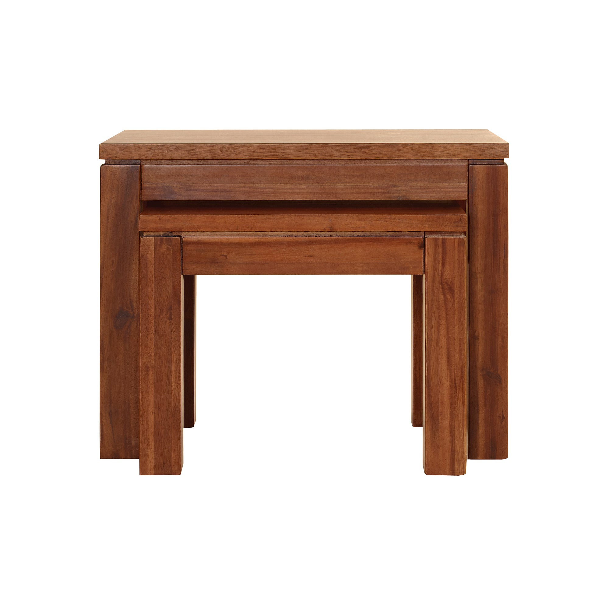 Seville Acacia Dark Wood Nest of 2 Tables