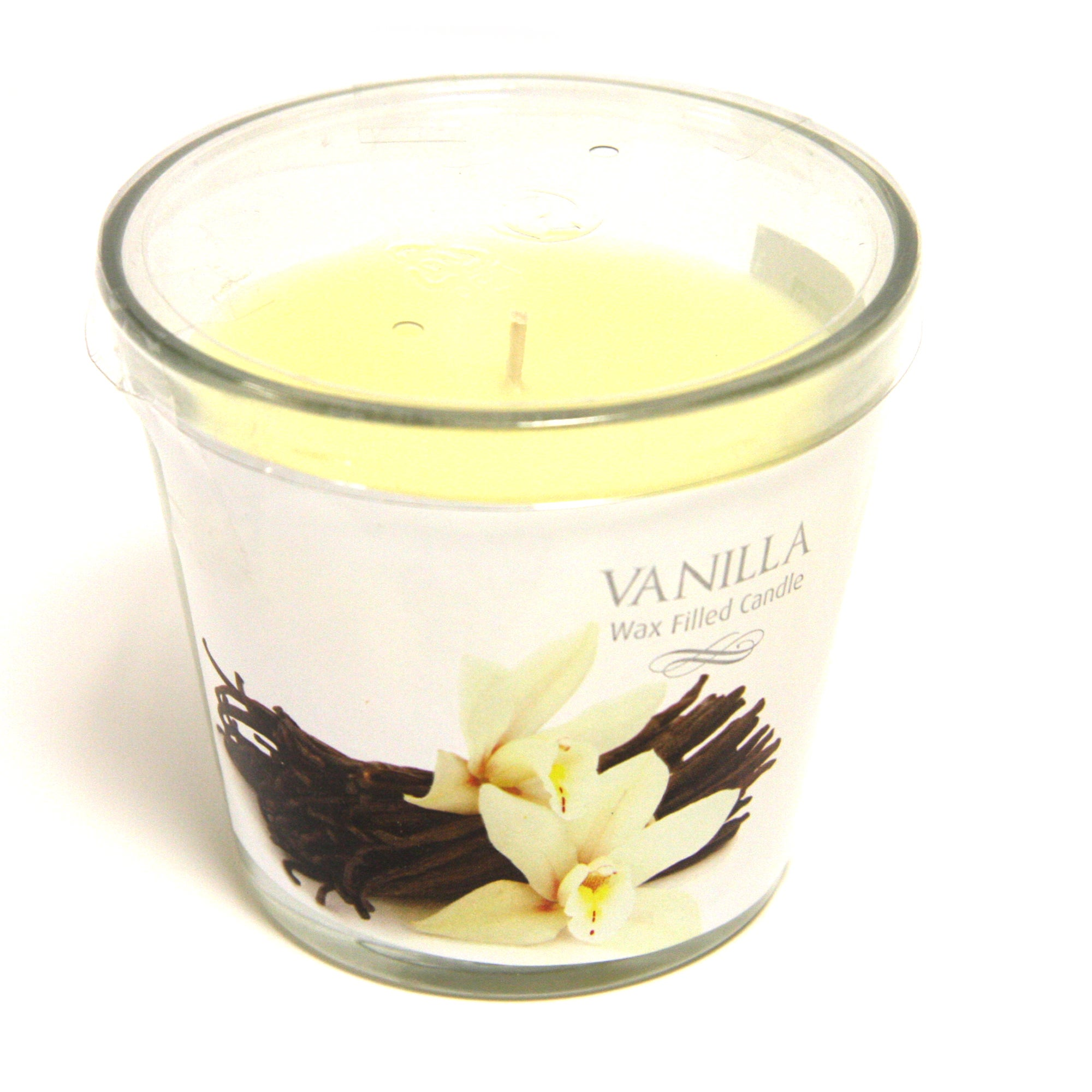 French Vanilla Wax Filled Glass Candle