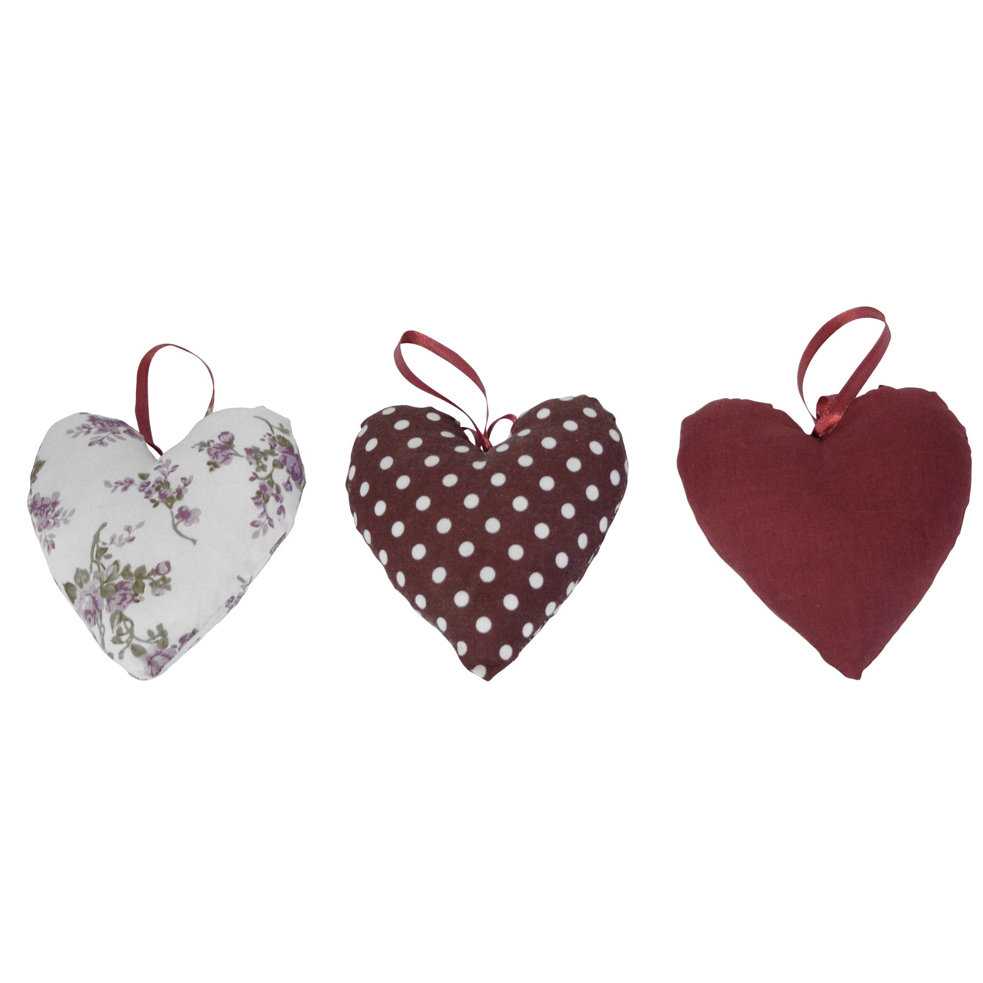 Plum Pudding Collection Filled Heart Cushions