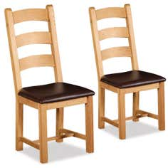Shawbury Pair of Oak Dining Chairs