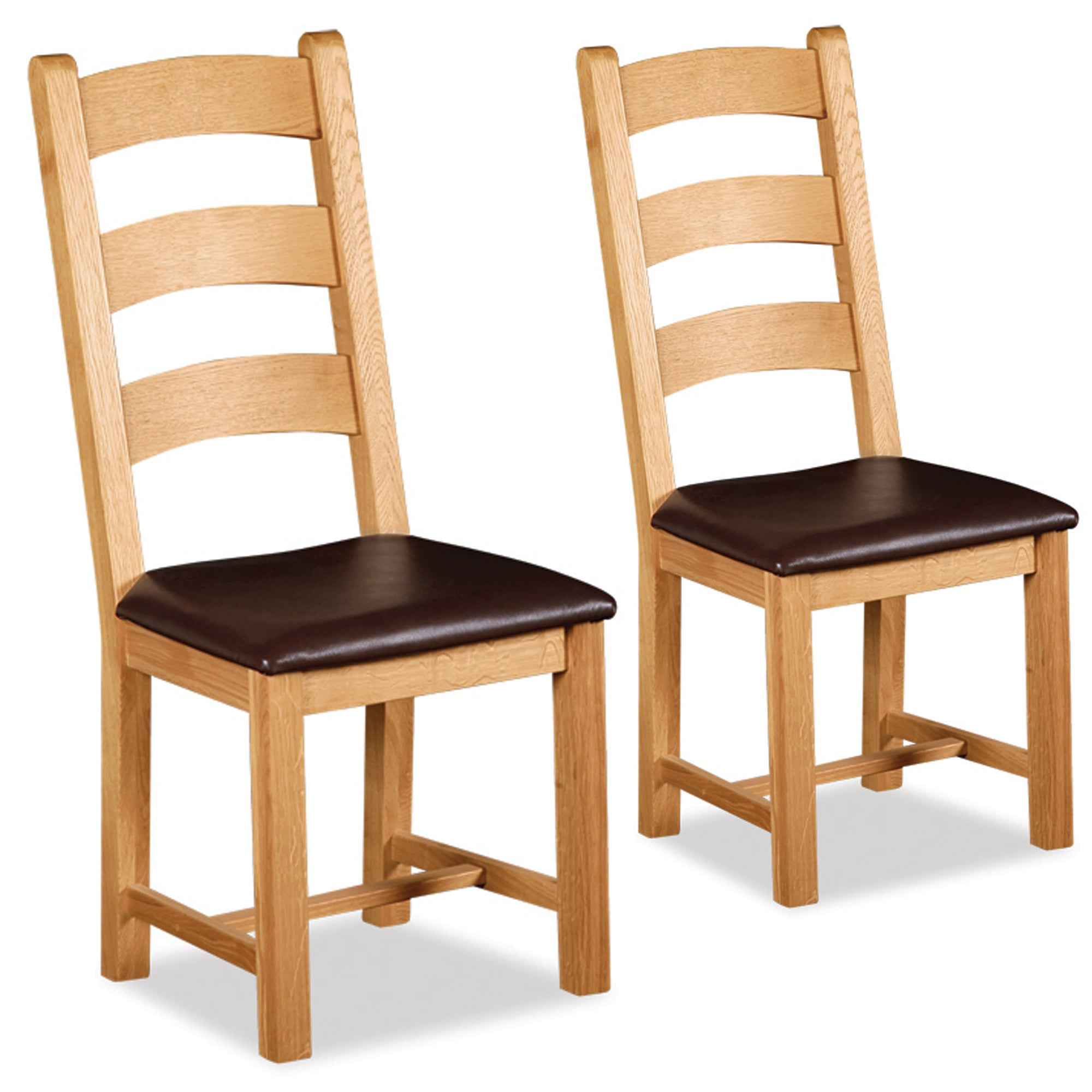 Shawbury Pair of Oak Carver Chairs