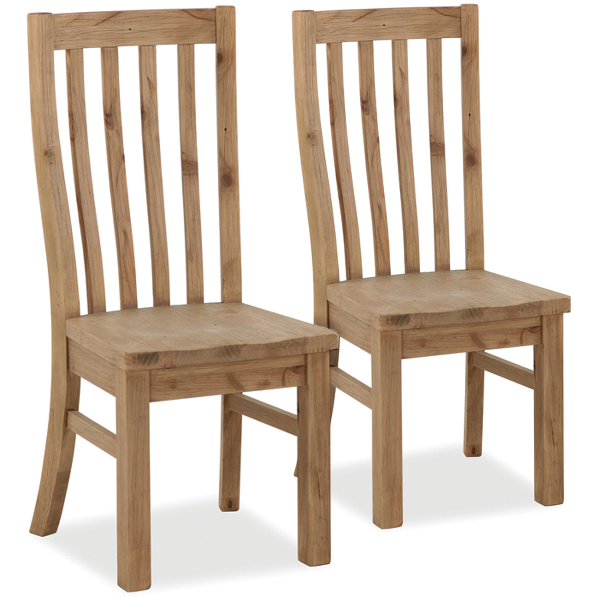 Naples Pair of Pine Dining Chairs