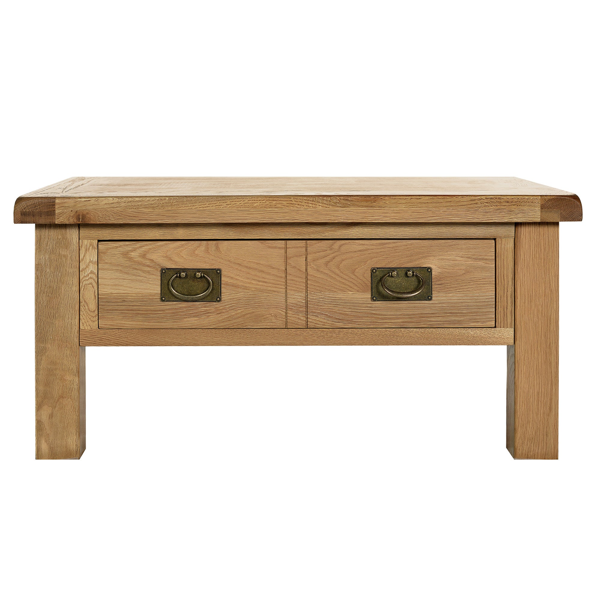 Aylesbury Oak Coffee Table with Double Drawer