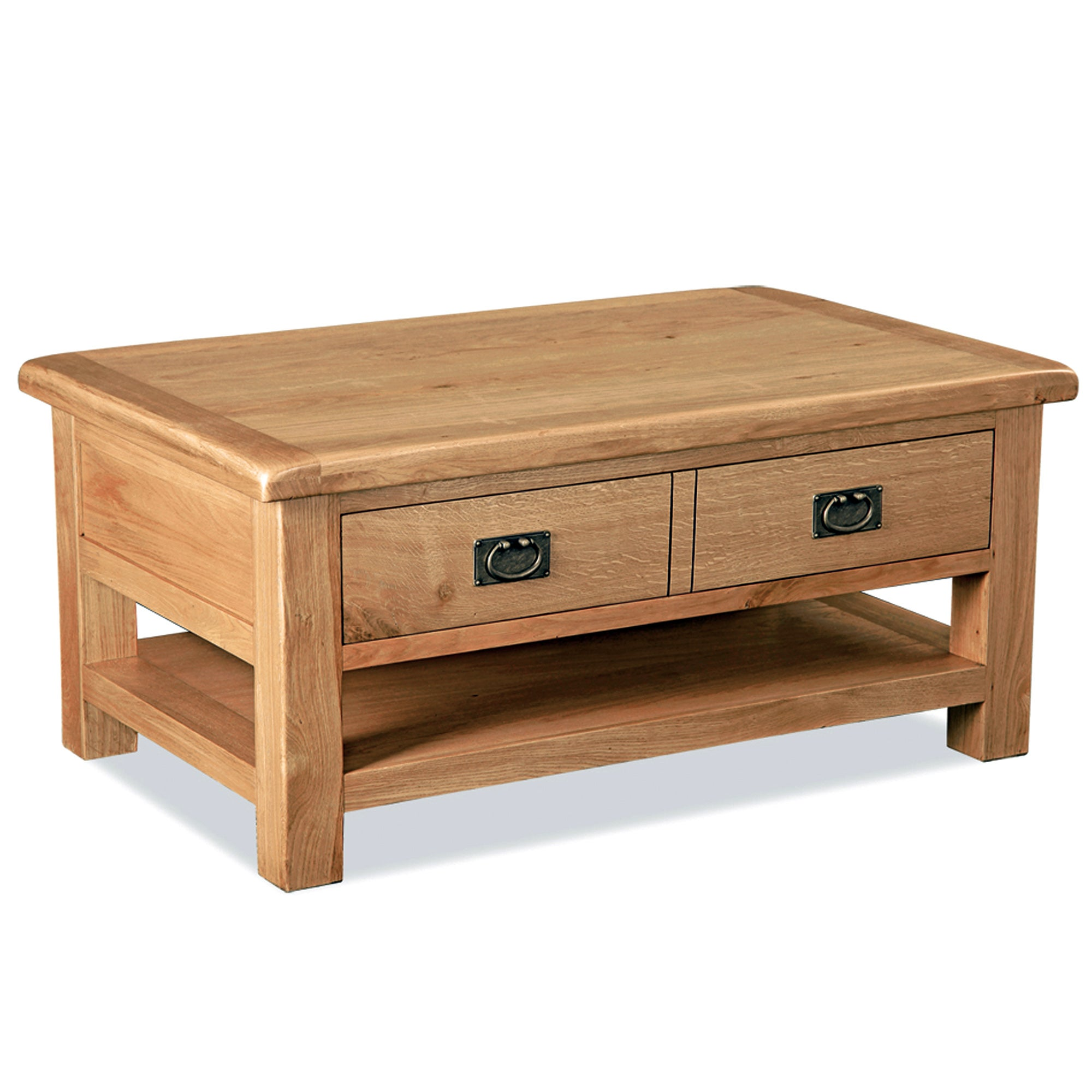 Aylesbury Oak Large Coffee Table with Double Drawer