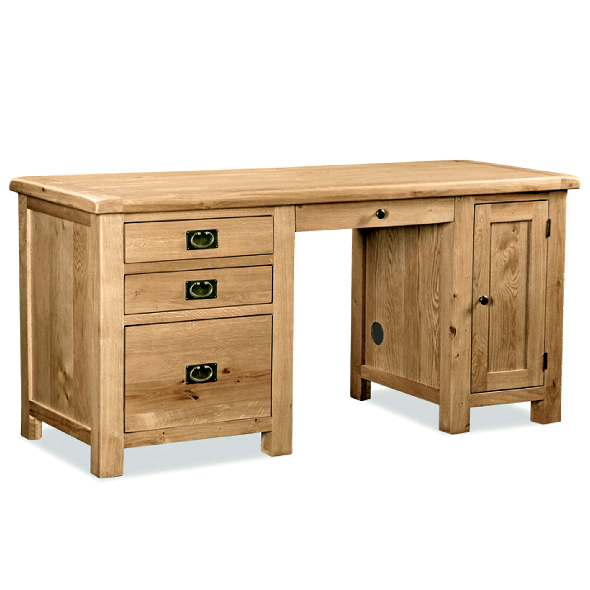 Chichester Oak Double Desk