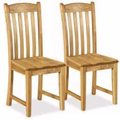 Chichester Pair of Oak Dining Chairs