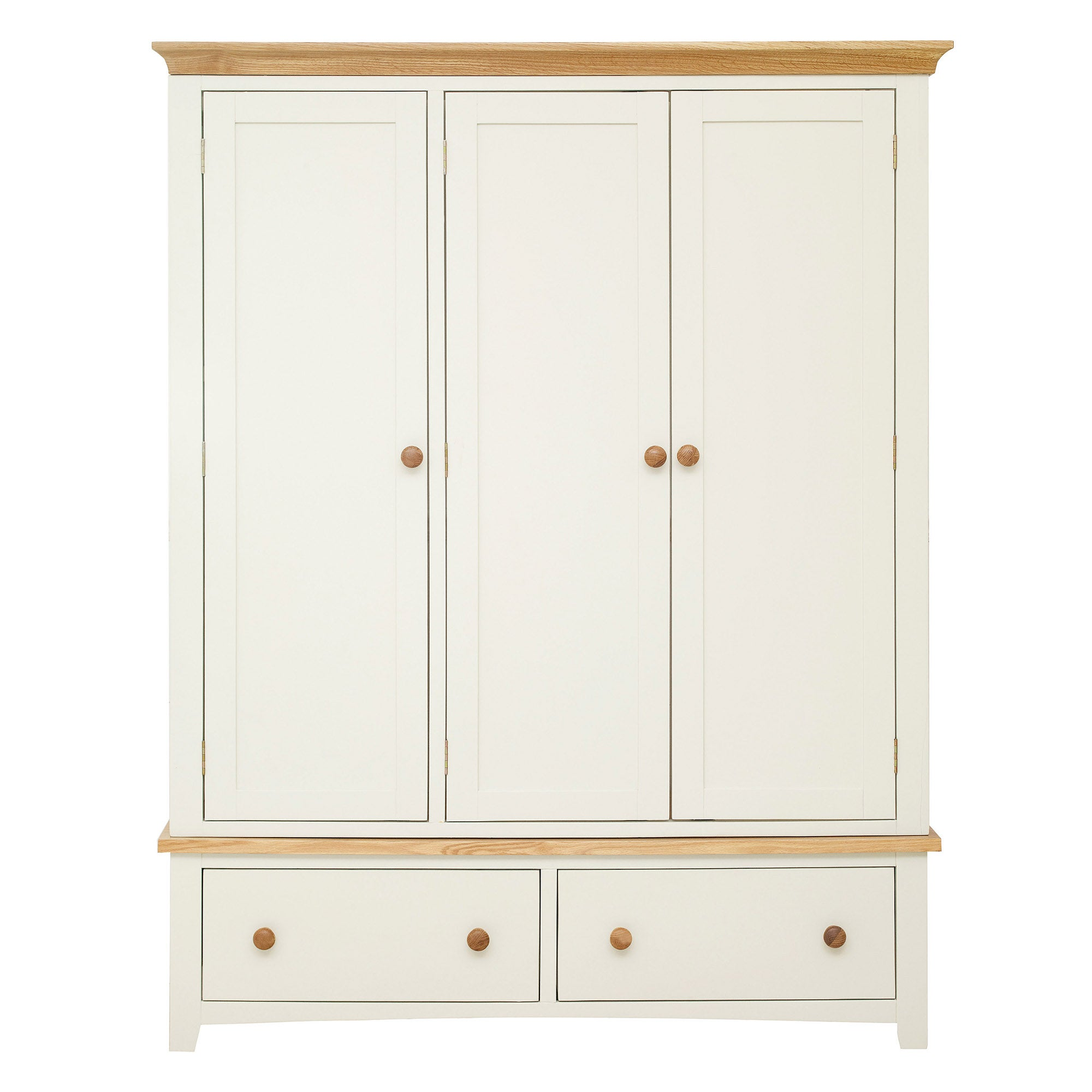 Truro Oak Triple Wardrobe